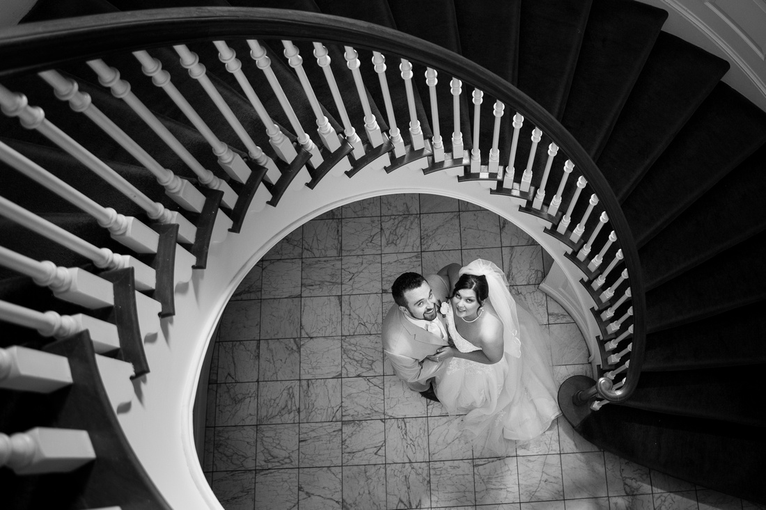 Brierwood Spiral Stairs Wedding