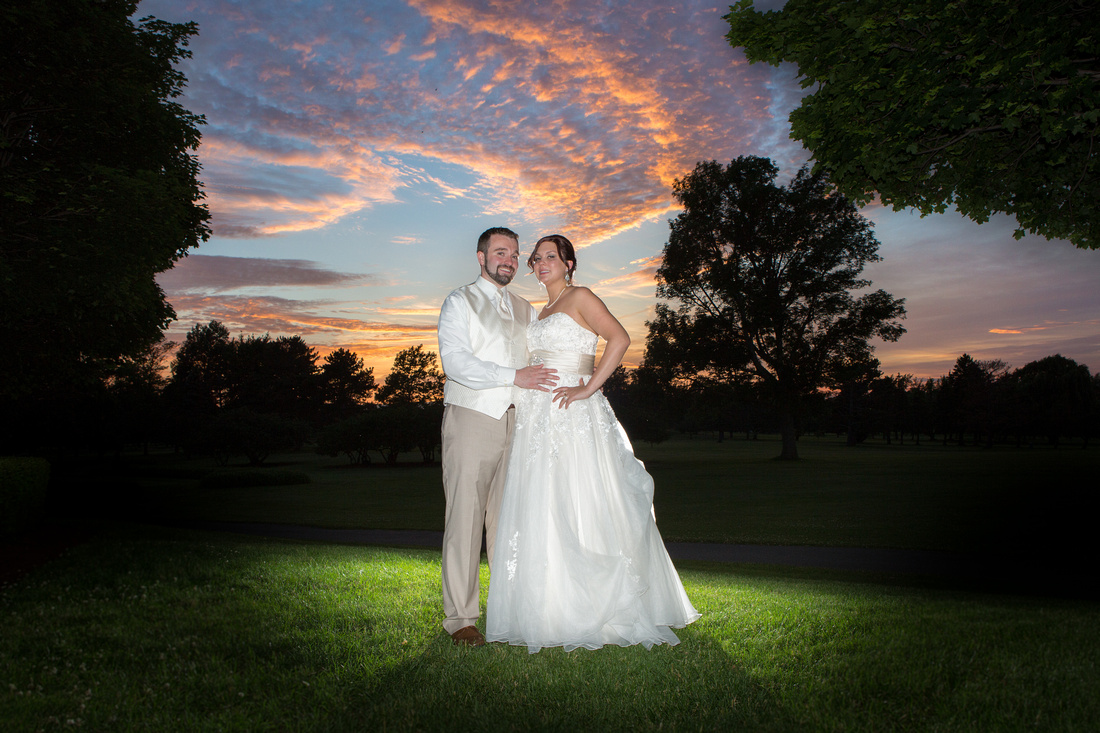 Brierwood Sunset Wedding Shot Golf Course